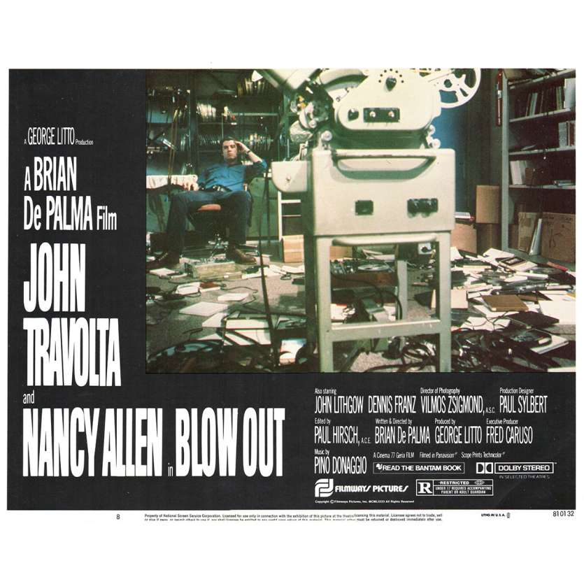 BLOWOUT Photo de film N8 28x36 - 1981 - John Travolta, Brian de Palma