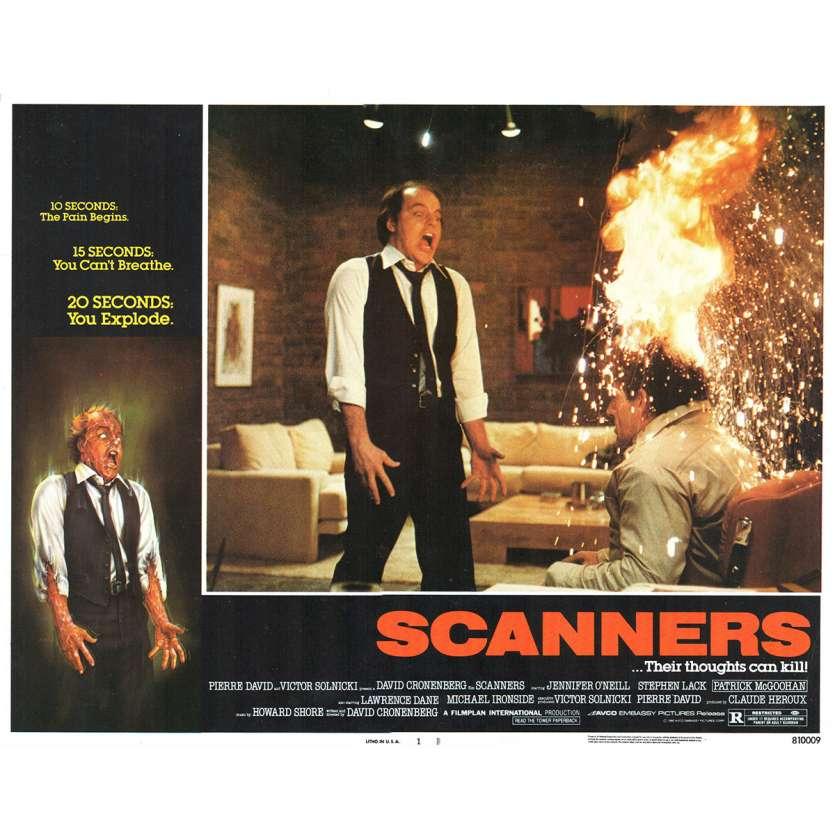SCANNERS Photo de film N1 28x36 - 1981 - Patrick McGoohan, David Cronenberg