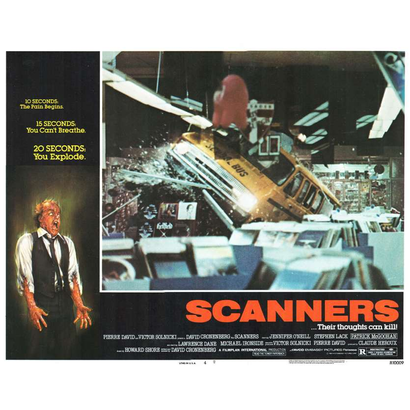 SCANNERS Photo de film N3 28x36 - 1981 - Patrick McGoohan, David Cronenberg