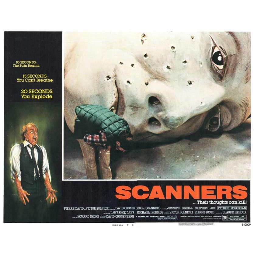 SCANNERS US Lobby Card 11x14- 1981 - David Cronenberg, Patrick McGoohan
