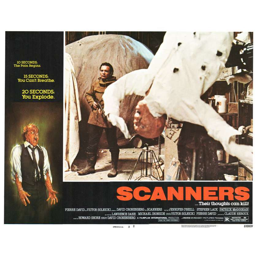 SCANNERS Photo de film N8 28x36 - 1981 - Patrick McGoohan, David Cronenberg