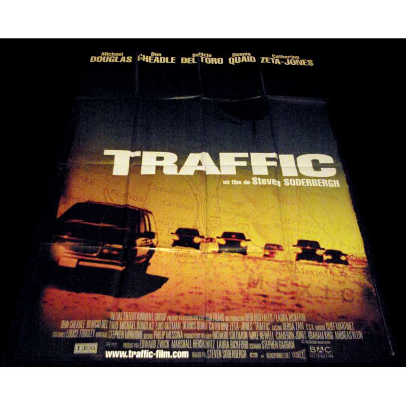 TRAFFIC French Movie Poster 47x63- 2000 - Steven Soderbergh, Benicio del Toro