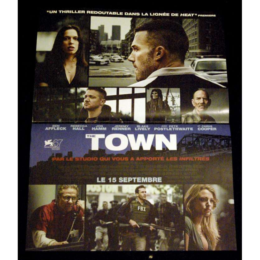 THE TOWN French Movie Poster 15x21- 2010 - Ben Affleck, Jon Hamm