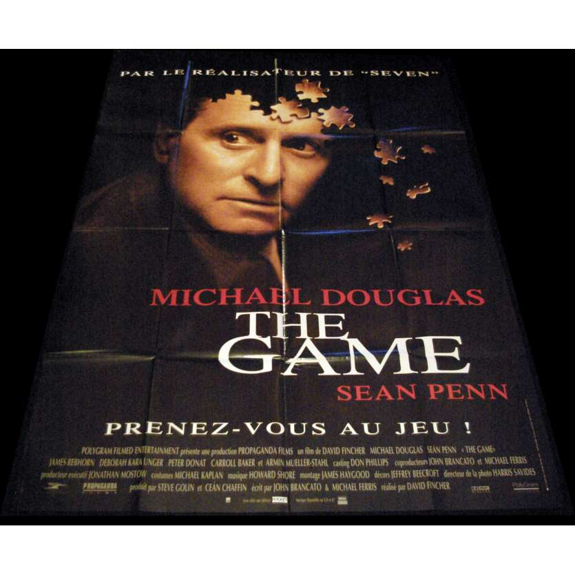 THE GAME Affiche de film 120x160 - 1997 - Michael Douglas, David Fincher