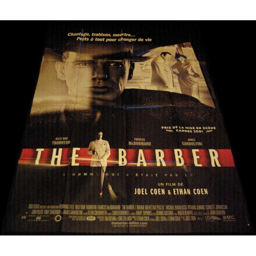 THE BARBER Affiche de film 120x160 - 2001 - Billy Bob Thornton, Ethan Coen