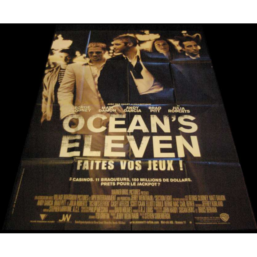 OCEAN'S ELEVEN French Movie Poster 47x63- 2001 - Steven Soderbergh, George Clooney