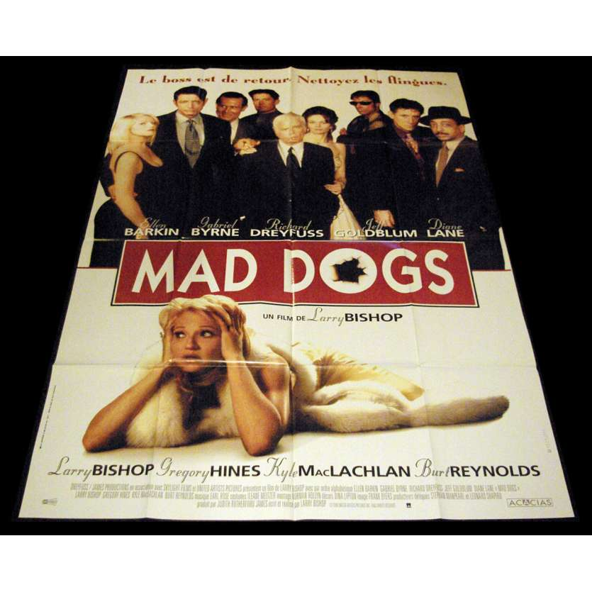 MAD DOGS French Movie Poster 47x63- 1996 - Larry Bishop, Ellen Barkin