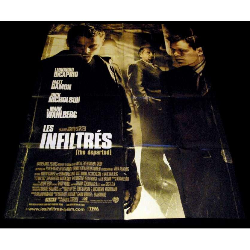 LES INFILTRES Affiche de film 120x160 - 2006 - Leonardo di Caprio, Martin Scorsese