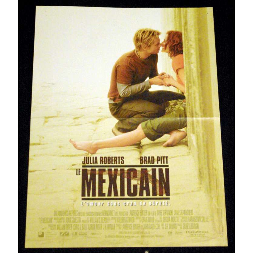 THE MEXICAN French Movie Poster 15x21- 2001 - Gore Verbinski, Brad Pitt