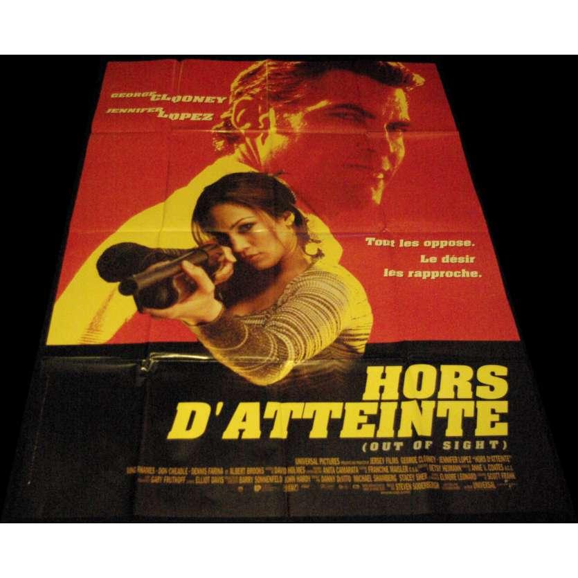 HORS D'ATTEINTE Affiche de film 120x160 - 1998 - George Clooney, Steven Soderbergh