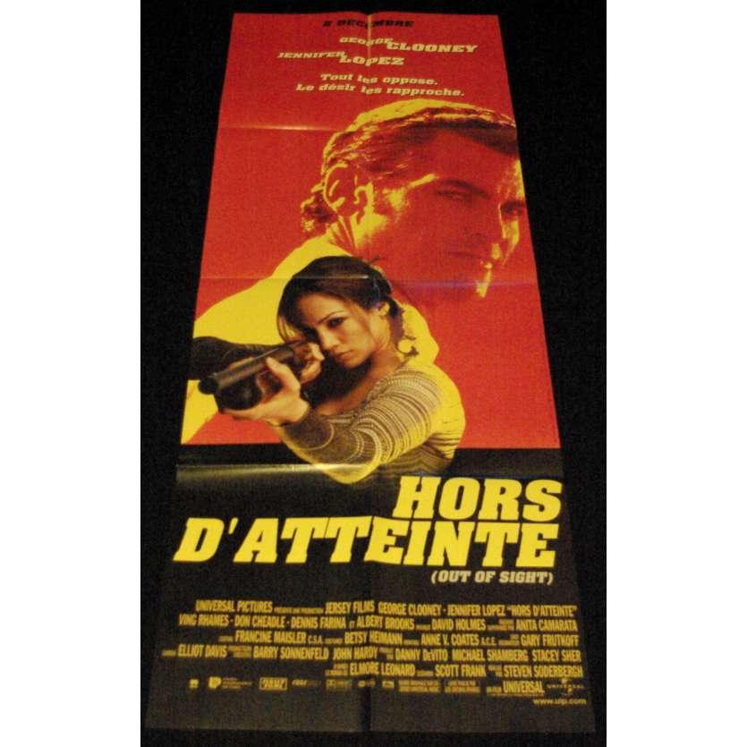 HORS D'ATTEINTE Affiche de film 60x160 - 1998 - George Clooney, Steven Soderbergh