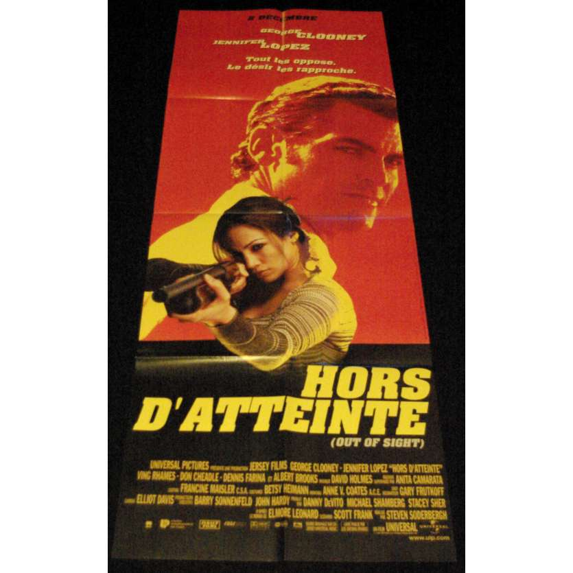 OUT OF SIGHT French Movie Poster 23x63- 1998 - Steven Soderbergh, George Clooney