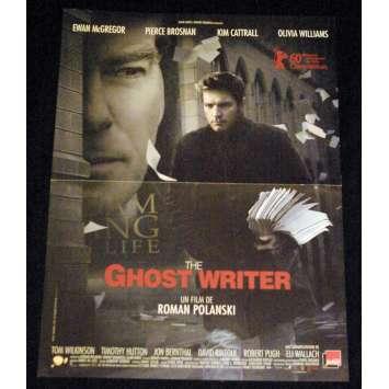 GHOST WRITER Affiche de film 40x60 - 2010 - Ewan McGregor, Roman Polanski