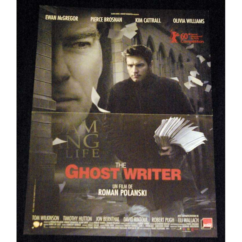 THE GHOST WRITER French Movie Poster 15x21- 2010 - Roman Polanski, Ewan McGregor