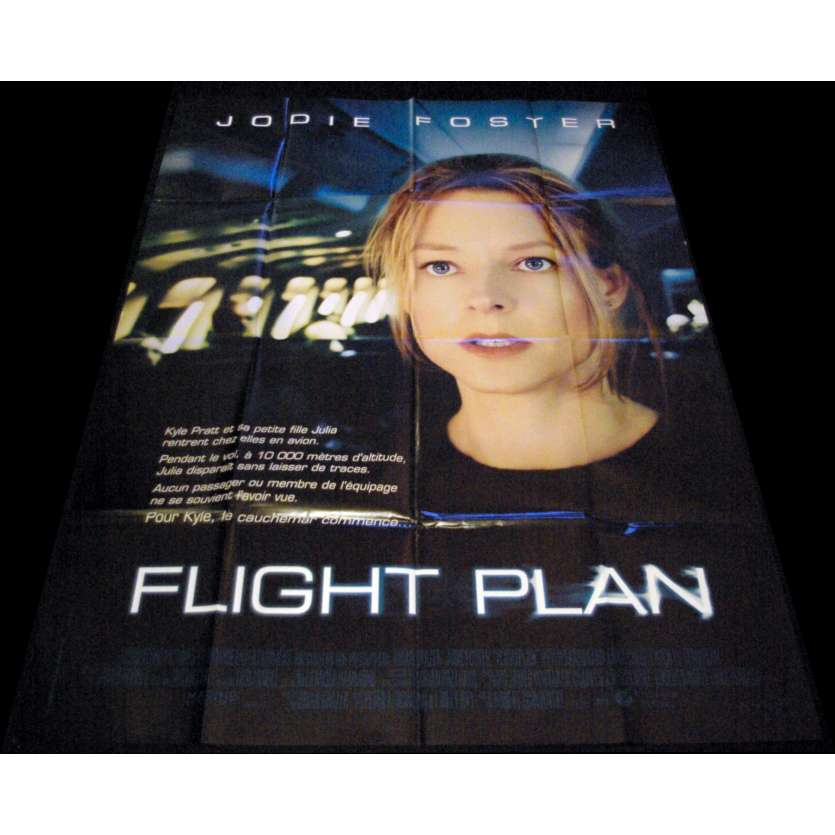 FLIGHT PLAN French Movie Poster 47x63- 2005 - Robert Schwentke, Jodie Foster