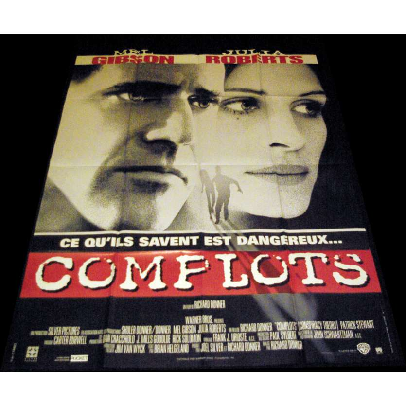 CONSPIRACY THEORY French Movie Poster 47x63- 1997 - Richard Donner, Mel Gibson