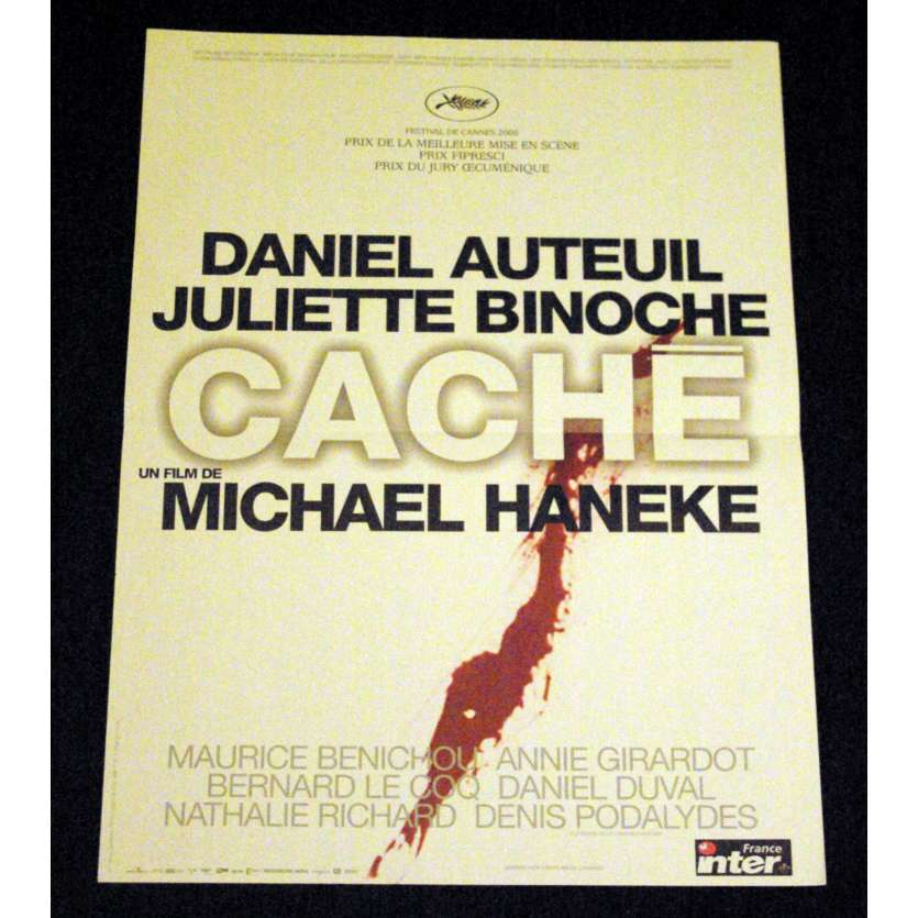 CACHE French Movie Poster 15x21- 2005 - Michael Haneke, Daniel Auteuil