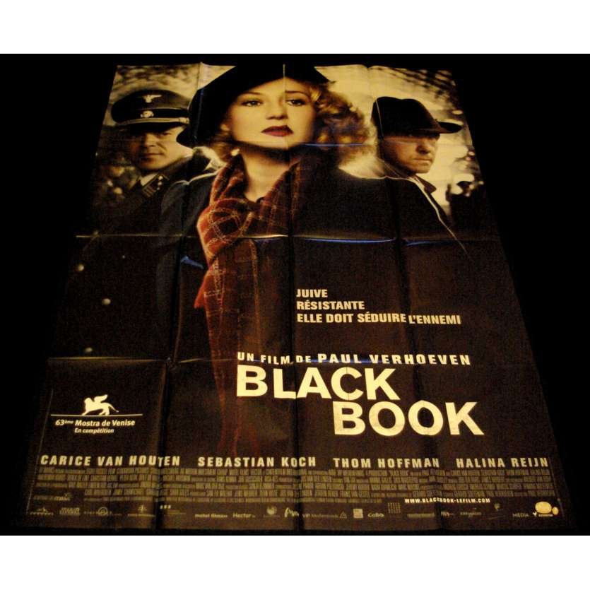 BLACK BOOK French Movie Poster 47x63- 2006 - Paul Verhoeven, Carice van Houten