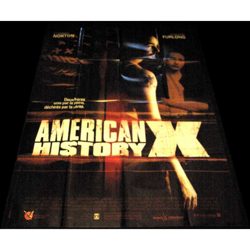 AMERICAN HISTORY X French Movie Poster 47x63- 1998 - Tony Kaye, Edward Norton