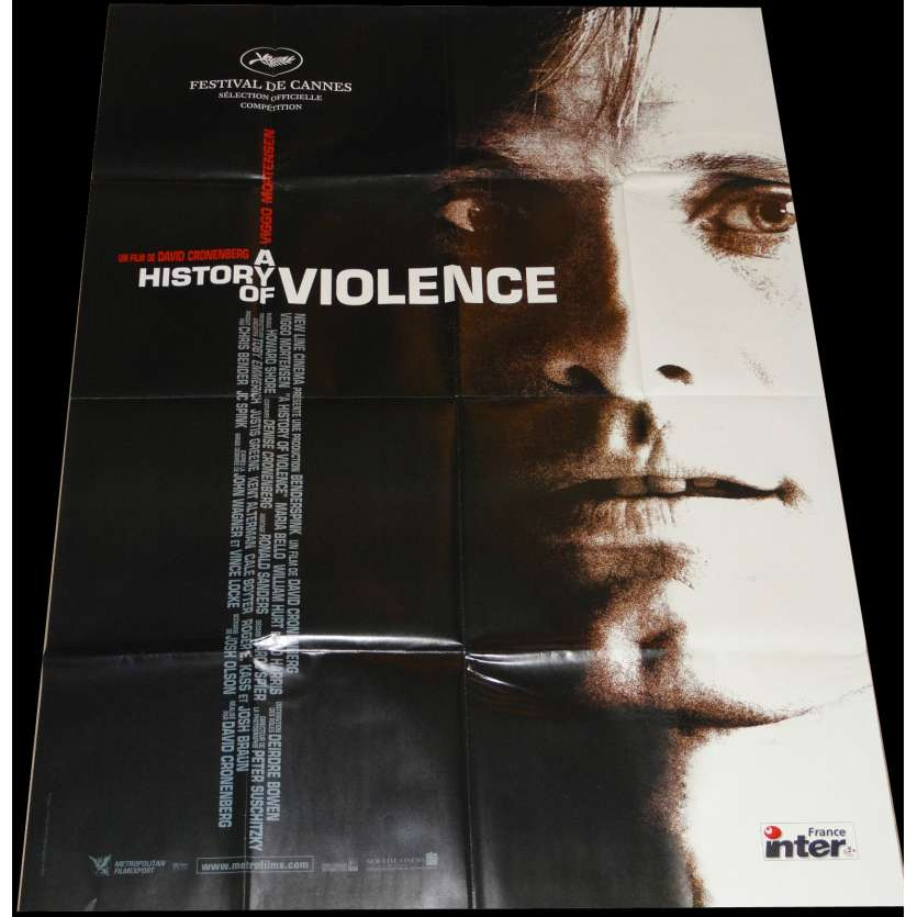 HISTORY OF VIOLENCE French Movie Poster 47x63- 2005 - David Cronenberg, Viggo Mortensen