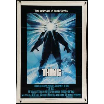 THE THING Affiche US Entoilée '82 John Carpenter Linen Movie Poster