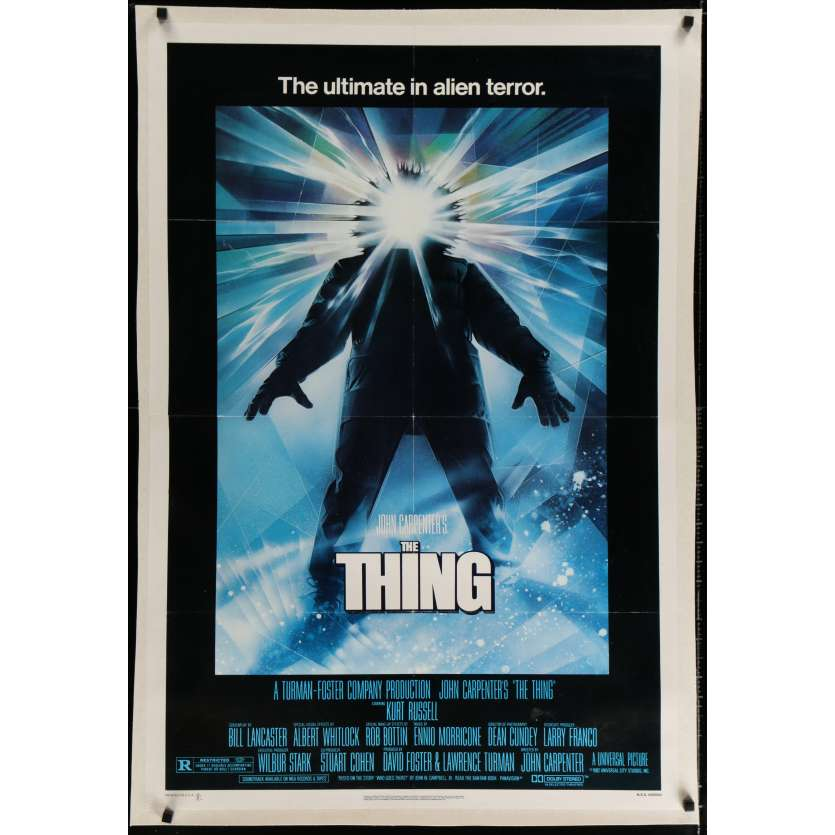 THE THING Linen Movie Poster 1sh '82 John Carpenter, Struzan Art