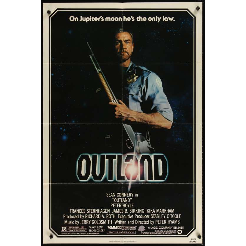OUTLAND US Movie Poster 29x41- 1981 - Peter Hyams, Sean Connery