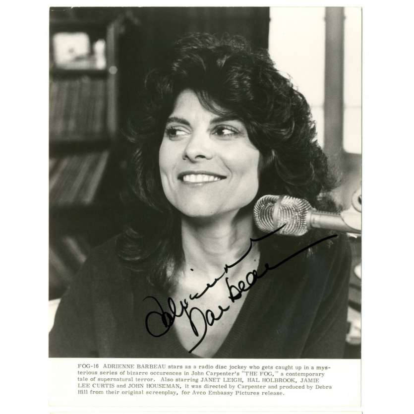 ADRIENNE BARBEAU Photo signée 20x25 - 1980 - Fog, John Carpenter