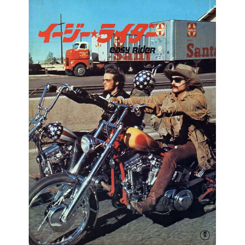 EASY RIDER Japanese Movie Program 9x12- 1969 - Dennis Hopper, Peter Fonda