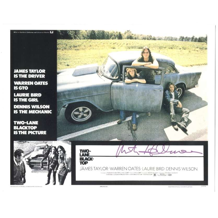 MONTE HELLMAN Signed Lobby Card 11x14 - 2010 - Two Lane Blacktop