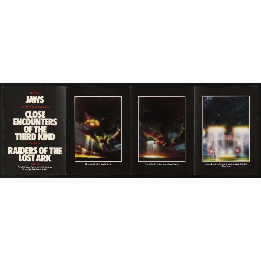 E.T. L'EXTRATERRESTRE Rare Brochure promotionnelle US - 1982 - Steven Spielberg