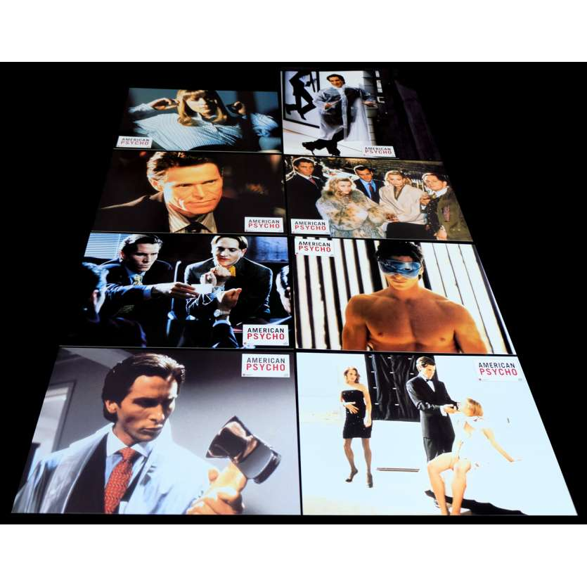 AMERICAN PSYCHO French Lobby Cards 9x12- 2000 - Mary Harron, Christian Bale