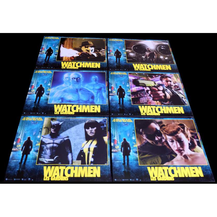 WATCHMEN French Lobby Cards 9x12- 2009 - Zack Snyder, Jackie Earle Haley
