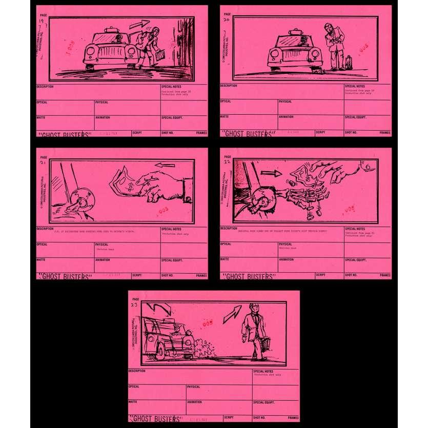 GHOSTBUSTERS Storyboard 6 9x12 - 1983 - Harold Ramis, Dan Aycroyd
