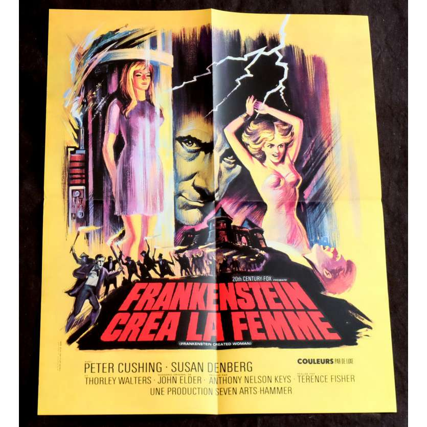 FRANKENSTEIN CREATED WOMAN French Movie Poster 15x21 - 1967 - Terence Fisher, Peter Cushing
