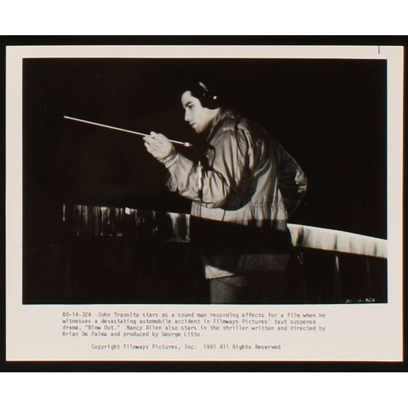 BLOW OUT Photo de presse 4 20x25 - 1981 - John Travolta, Brian de Palma