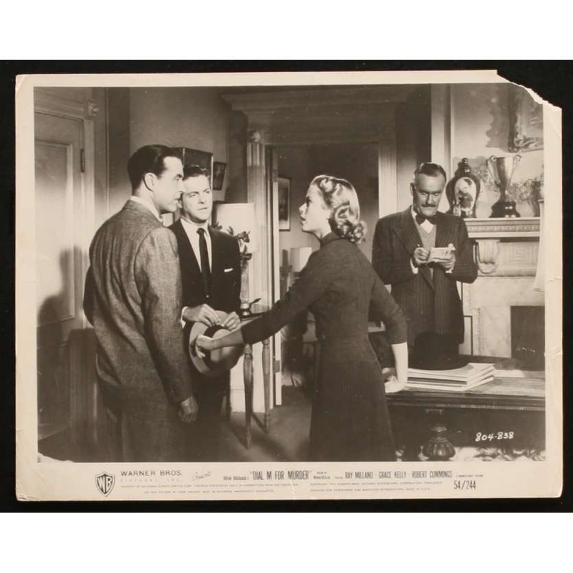 LE CRIME ETAIT PRESQUE PARFAIT Photo de presse 2 20x25 - 1954 - Grace Kelly, Alfred Hitchcock