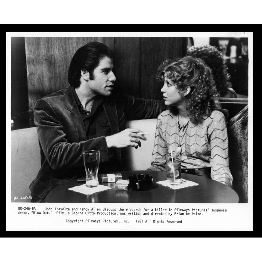 BLOW OUT Photo de presse 1 20x25 - 1981 - John Travolta, Brian de Palma