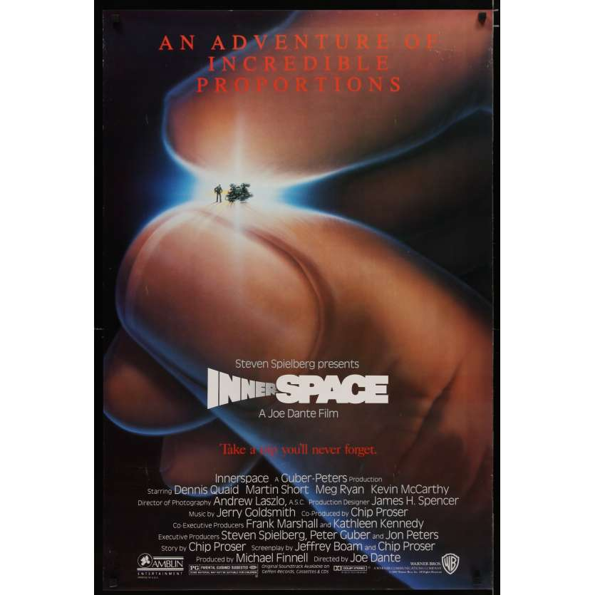 INNERSPACE US Movie Poster 27x40 - 1987 - Joe Dante, Dennis Quaid