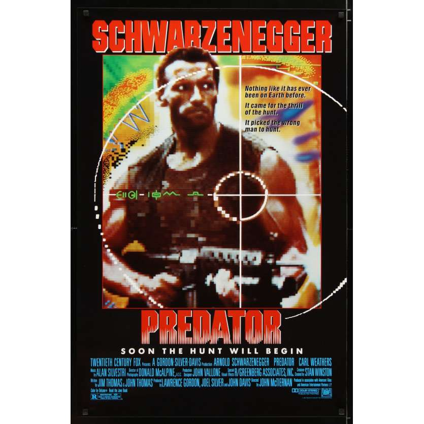 PREDATOR Affiche de film 69x104 - 1987 - Arnold Schwarzenegger,