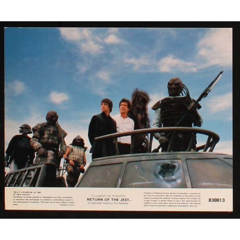 STAR WARS, RETURN OF THE JEDI US Lobby Card 7 8x10 - 1983 - Richard Marquand, Harrison Ford