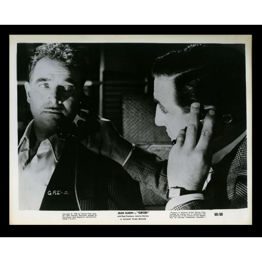 GRISBI US Movie Still 11 8x10 - 1960 - Jacques Becker, Jean Gabin, Lino Ventura