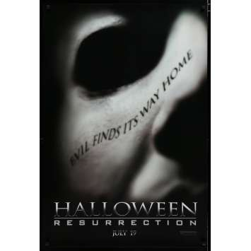 HALLOWEEN RESURRECTION Affiche de film 69x104 - 2002 - Jamie Lee Curtis, Rick Rosenthal