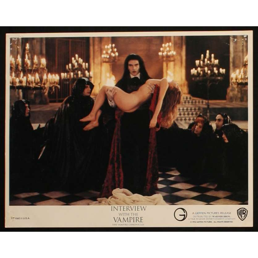 INTERVIEW WITH THE VAMPIRE US Lobby Card 1 11x14 - 1994 - Neil Jordan, Tom Cruise