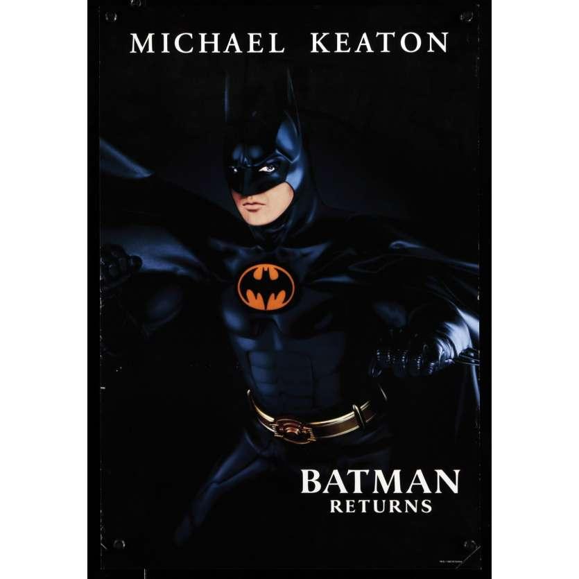 BATMAN LE DEFI Affiche de film 34x50 - 1992 - Michael Keaton, Tim Burton