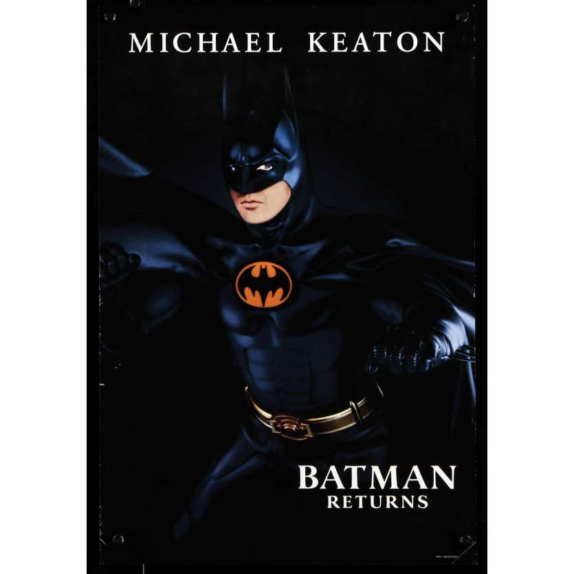 BATMAN RETURNS Teaser US Movie Poster 13x19 - 1992 - Tim Burton, Michael Keaton