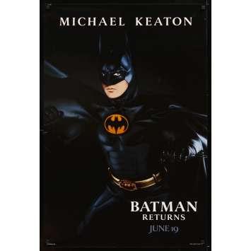 BATMAN RETURNS Teaser SpanUS Movie Poster 29x41 - 1992 - Tim Burton, Michael Keaton