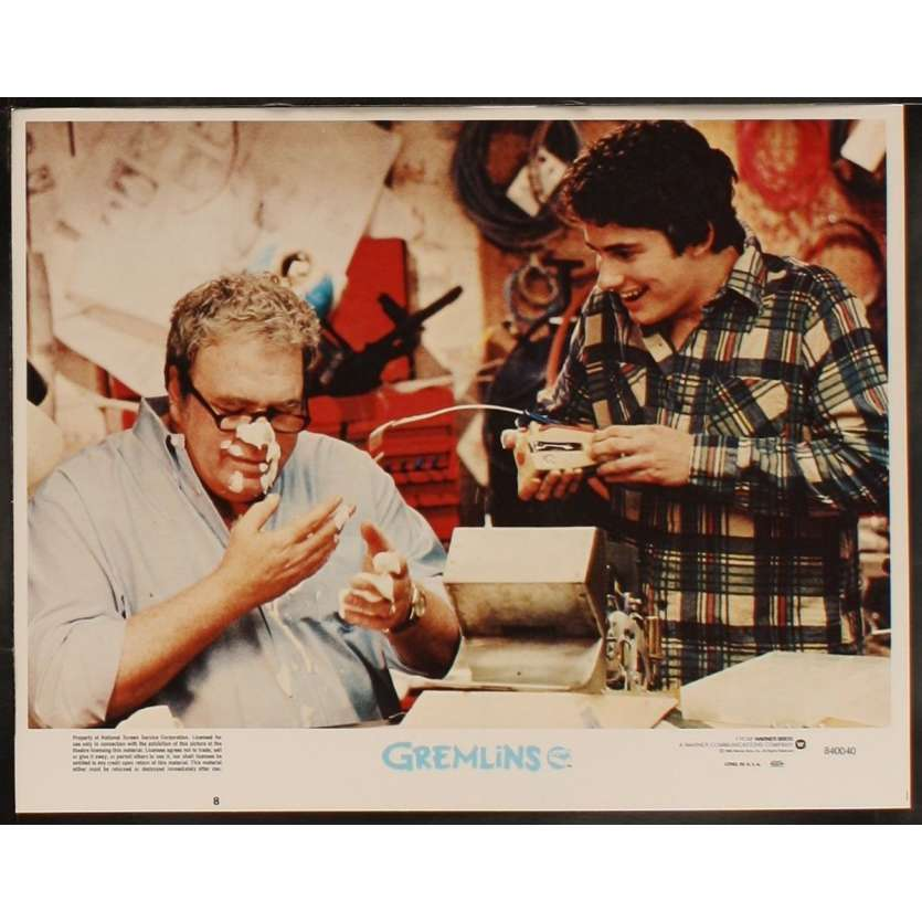 GREMLINS US Lobby Card 8 11x14 - 1984 - Joe Dante, Zach Galligan