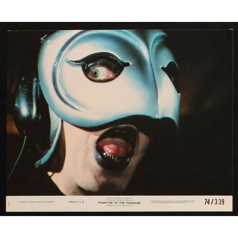 PHANTOM OF THE PARADISE US Lobby Card 3 8x10 - 1974 - Brain De Palma, Paul Williams