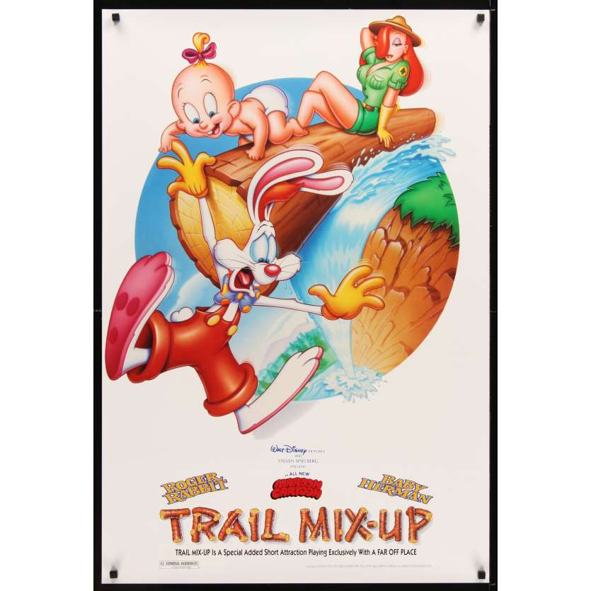 ROGER RABBIT : TRAIL MIX UP Affiche de film 69x104 - 1993 - Charles Fleischer, Robert Zemeckis